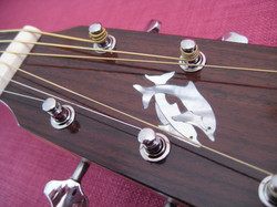 Twin dolphins inlay