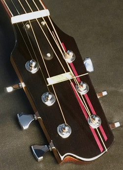 Headstock inlay detail