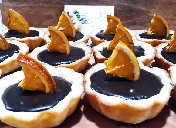 Ganache de Chocolate negro y naranja