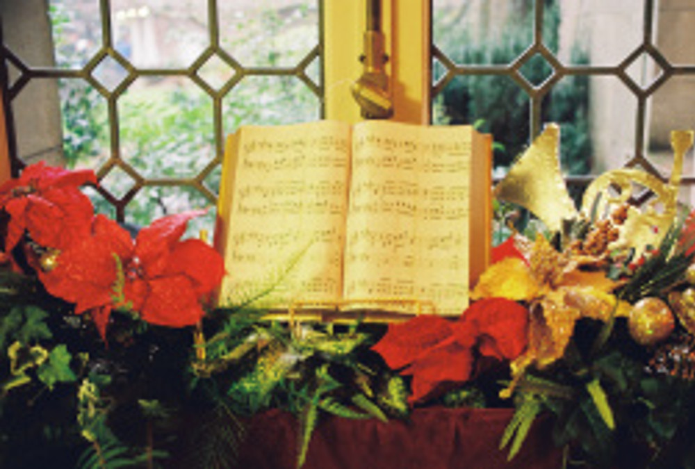 book of music and window