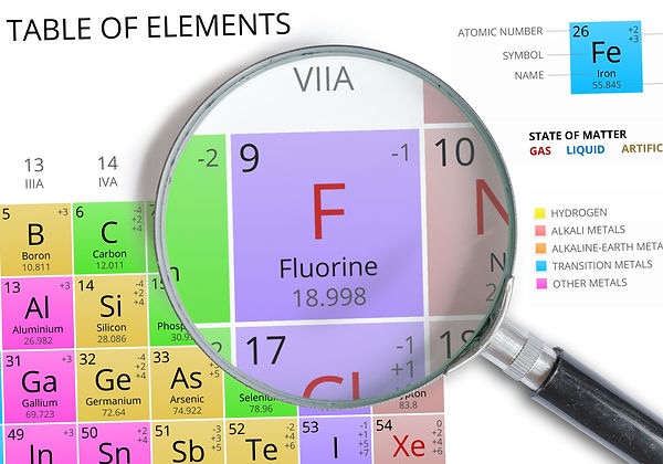 Periodic table entry for fluorine gas on creation6000.com