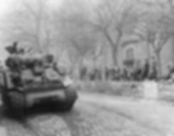 American tanks rolling into Germany 1945 on creation6000.com