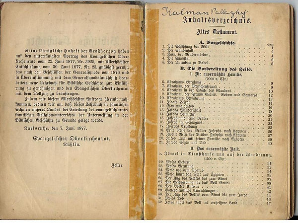 German 1877 Bible read by Charles Pallaghy in post-war Germany on creation6000.com