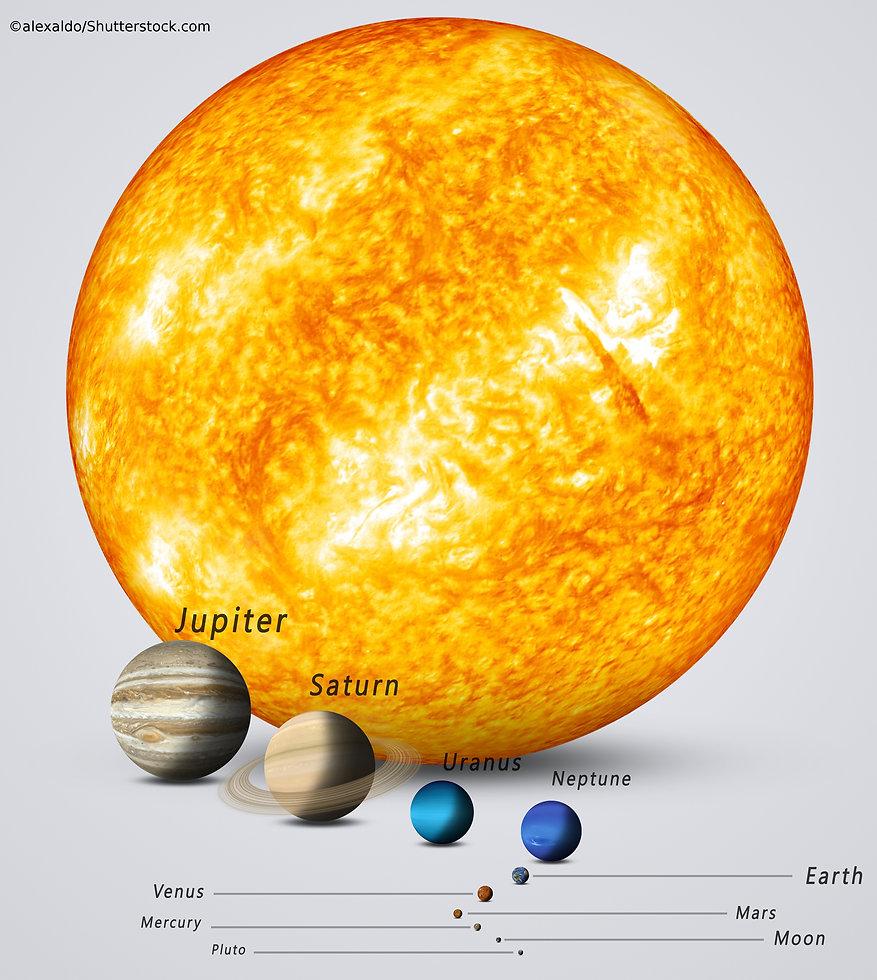 Sun earth comparison