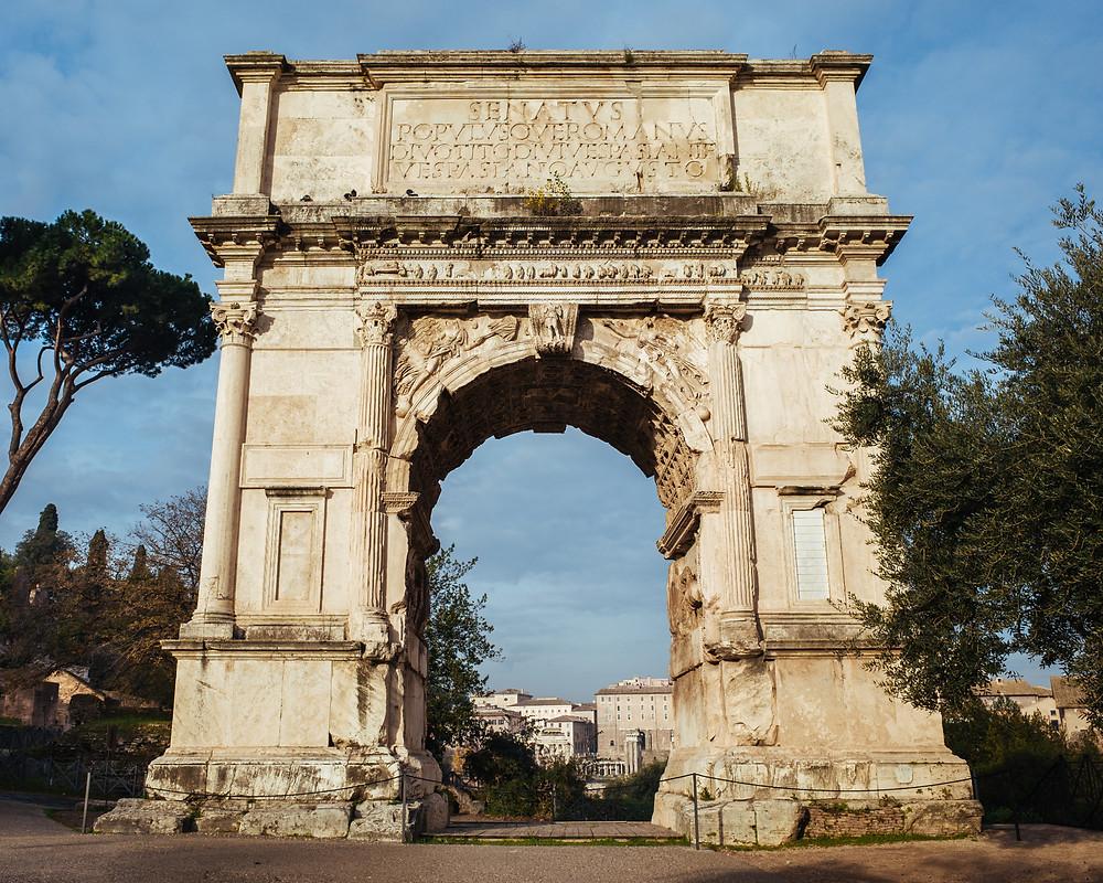 Arch of Titus celebrating the sacking of Jerusalem on creation6000.com