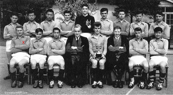 University High School soccer team 1955? with Mr Chapman and Charles on creation6000.com
