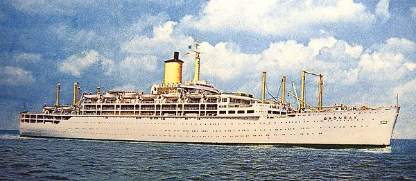 Cruise ship Oronsay 1971 on creation6000.com
