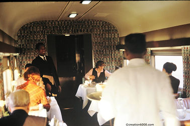 Santa Fe dinning car 1971 Chicago to Los Angeles on creation6000.com