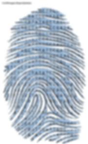 Fingerprint determined by DNA