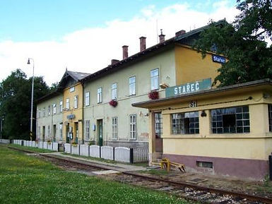 Former Czechoslovakian Railway station and restaurant in Starec, home of Milena Pallaghy on creation6000.com