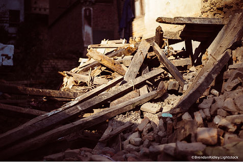 Typical rubble seen in germany after war by Charles Pallaghy