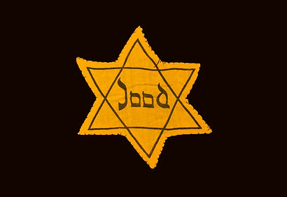 Yellow and black star which the Jews wer