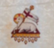Lamb of God Easter symbol embroidered on