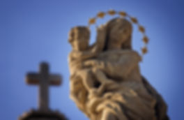 Statue of Virgin Mary and Jesus from the