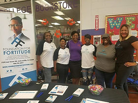 Greeting students at Edward Waters College