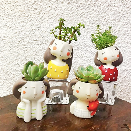 Lady Resin Pots