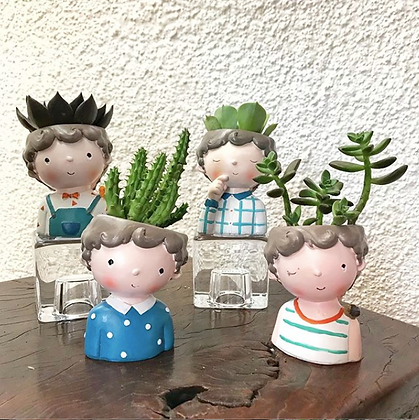 Boy Resin Pots