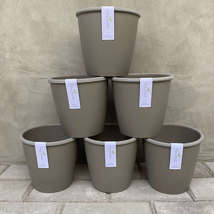Gray Lightweight Resin Pots