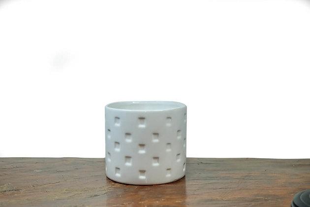 White Round Ceramic Pots
