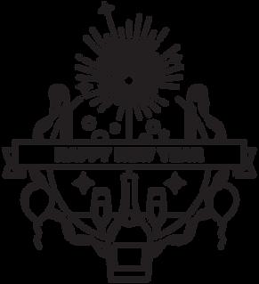 badge Happy New Year