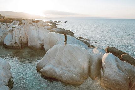 Boulders sur la plage