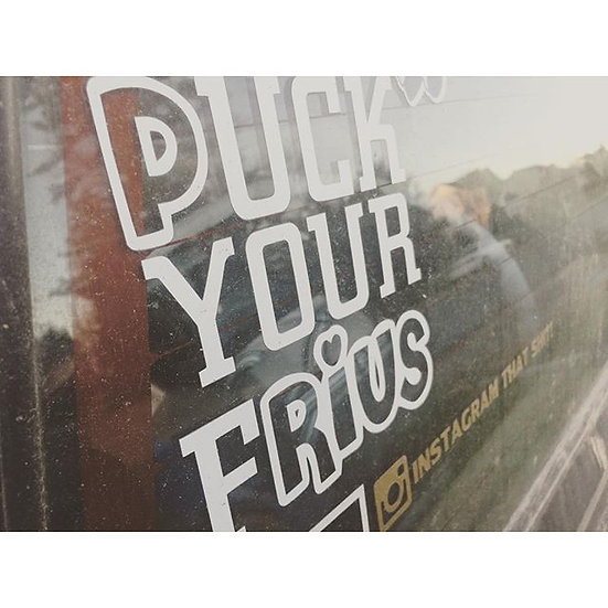 Puck Your Frius Decal