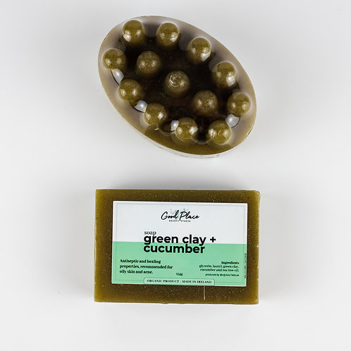 Good Place Skincare Green clay + Cucumber Soap