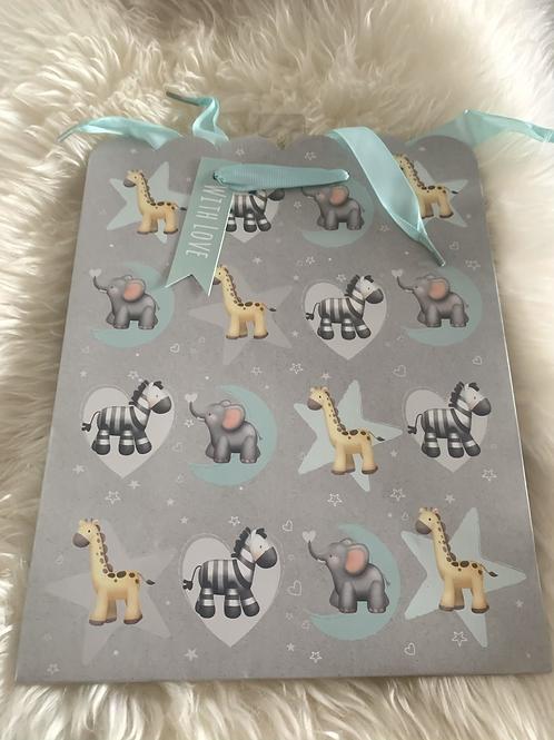 Medium Neutral Animal Gift Bag