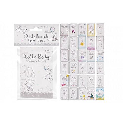 30 Baby Milestone Cards