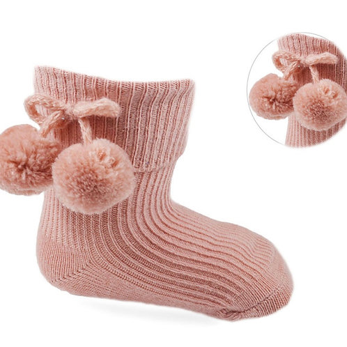 Rose Pom Pom Socks Soft Touch