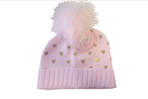 Rock A Bye Baby Pink Foil Knitted Hat