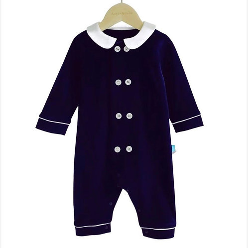 Navy Romper Suit All in One