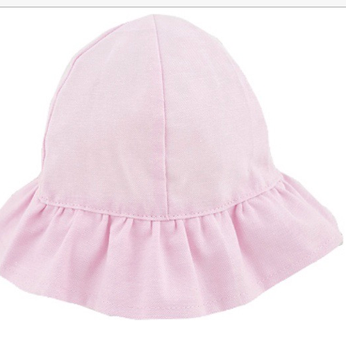 Frilled Cloche Hat - Pink