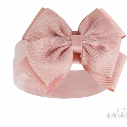 Soft Touch Rose Gold Glitter Headband