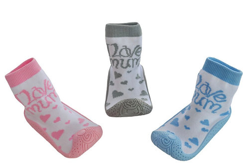 Love Mum Soled socks