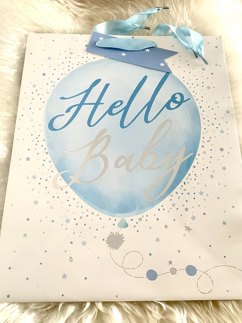Hello Baby Gift Bag - Blue Medium