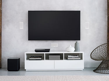 Bose Custom Home Theater with flush mounted speakers