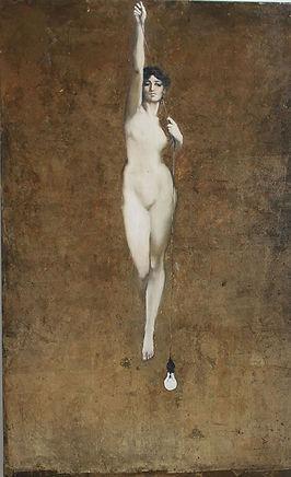 2015 lightkeeper oil on canvas 160cm x 110cm