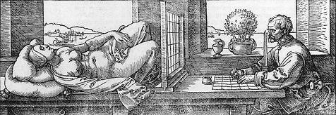 Albrecht_Dürer_-_Draughtsman_Drawing_a_