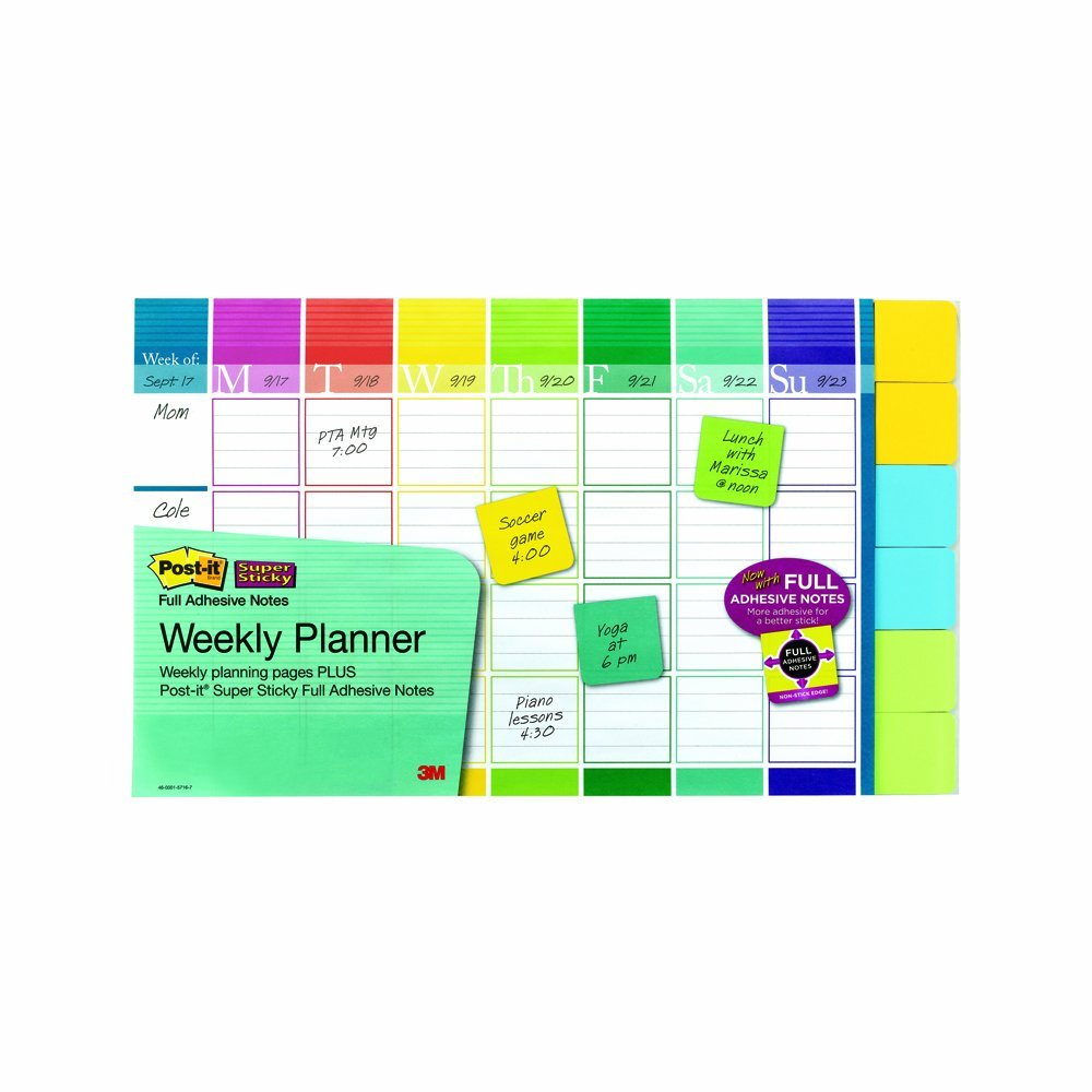 Post-It Weekly Planner