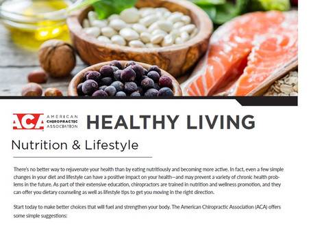 National Chiropractic Health Month: Nutrition & Lifestyle