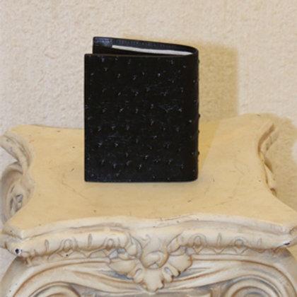 WALLET 1 - Fine Ostrich Print - Leather