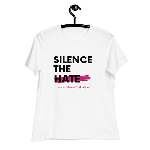 """SilenceTheHate"" Women's Relaxed T-Shirt (White)"