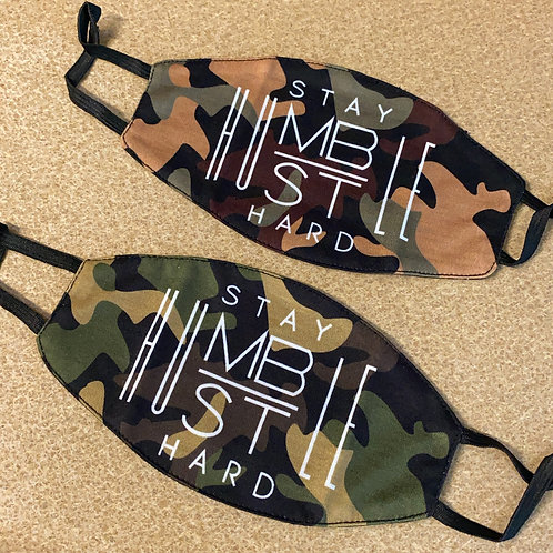 CAMO FACE MASK (FILTERED, WASHABLE, & REVERISBLE