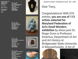 Maryland Federation of Art's Small Wonders Exhibition