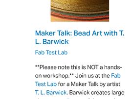 Fab Test Lab Artist Talk - 11/9/2019 @ 2pm