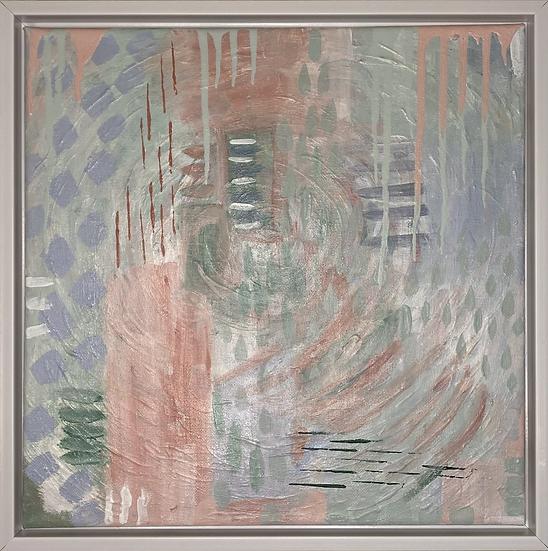 """""""𝘌𝘷𝘦𝘳-𝘤𝘩𝘢𝘯𝘨𝘪𝘯𝘨"""", 12x12"""", Framed."""