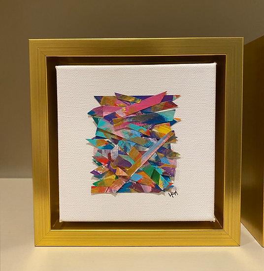"""""""Boxed Haystack I"""", 7x7"""" (custom framed)"""