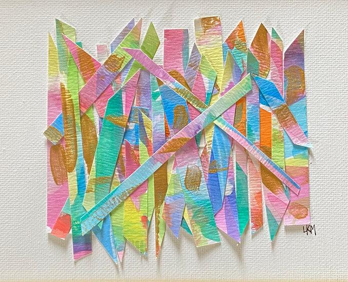"""""""Happy Haystack"""" 6x8"""", (custom framed)"""