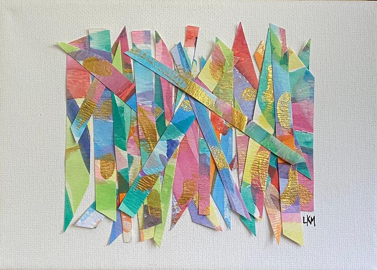 """""""Birthday Haystack"""", 6x8"""" , (custom framed)"""